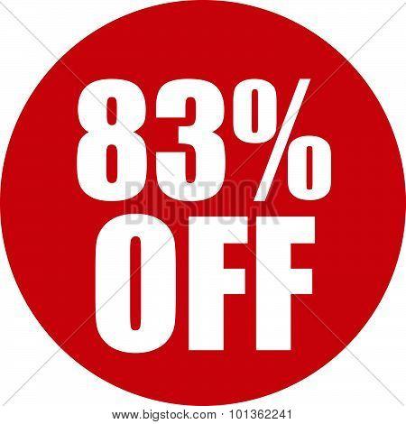 83 Percent Off Icon
