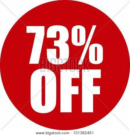 73 Percent Off Icon