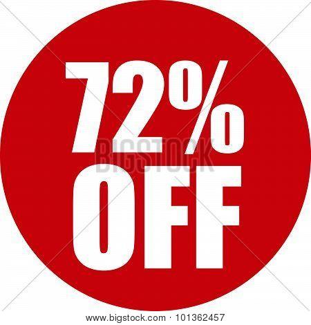 72 Percent Off Icon