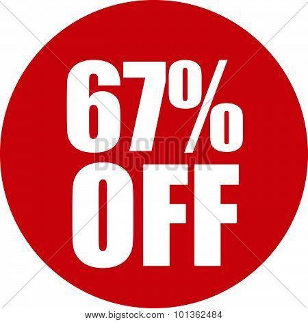 67 Percent Off Icon