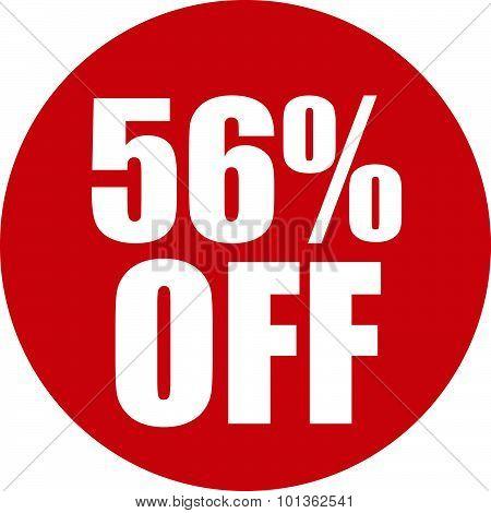 56 Percent Off Icon