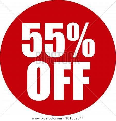 55 Percent Off Icon