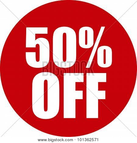 50 Percent Off Icon