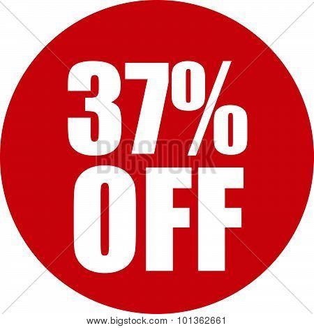 37 Percent Off Icon