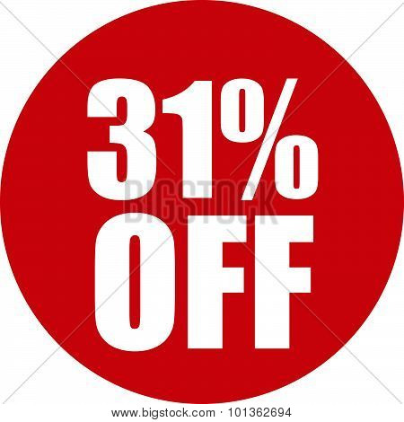 31 Percent Off Icon