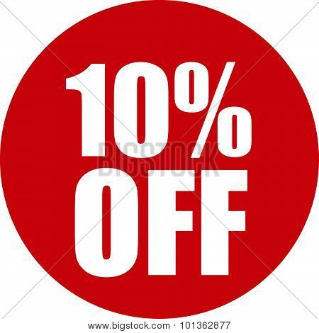 10 Percent Off Icon