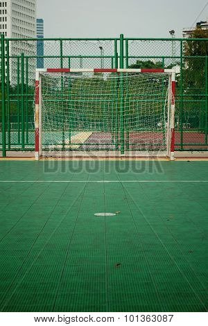 View of football goal