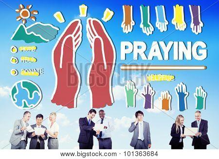 Pray Praying Hope Help Spirituality Religion Concept