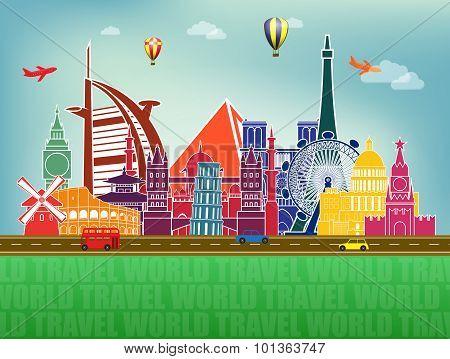 famous world landmarks icons