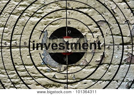 Investment Target Grunge Concept