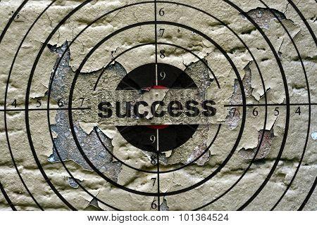 Success Target Grunge Concept