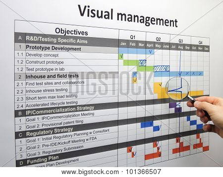 Inspecting Backspike On Project Plan Using Visual Management