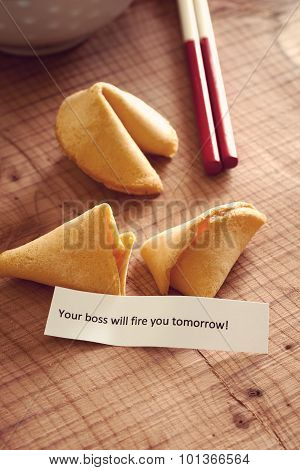 Misfortune Cookie With Firing Message