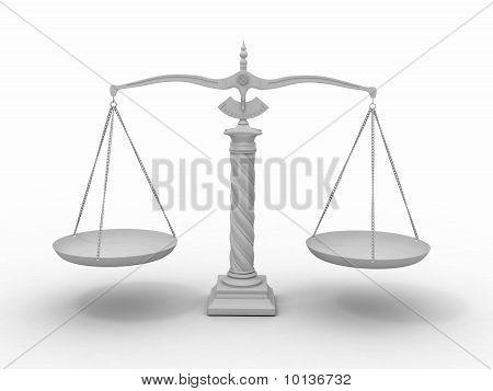 Símbolo de la justicia. Escala