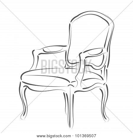 Sketched armchair.