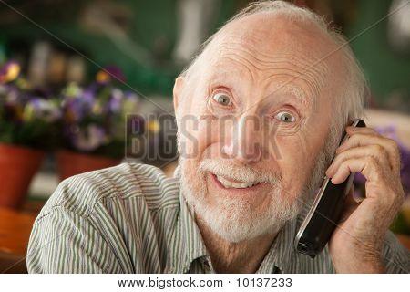 Senior Man On Telephone