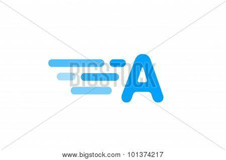 Fast line logo A monogram icon