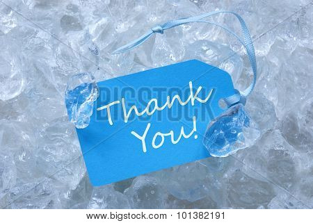 Blue Label On Ice With Thank You