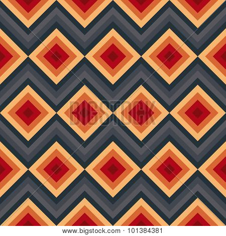 Modern elegant zig zag and rhombus seamless pattern.