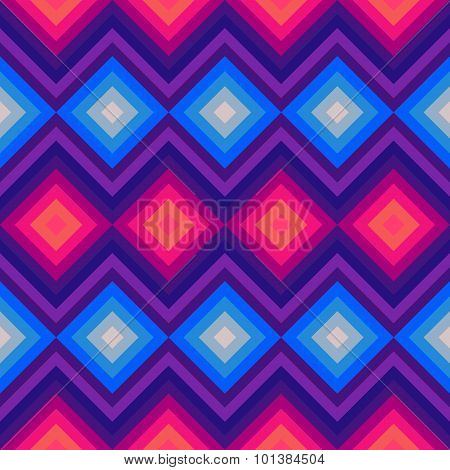 Modern crystal zig zag and rhombus seamless pattern.