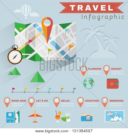 Travel Planning Illustrated Infographics