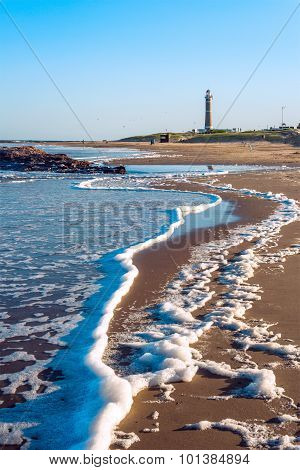 Lighthouse And Famous Beach In Jose Ignacio Near Punta Del Este, Uruguay