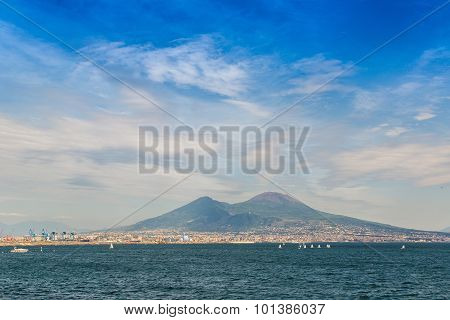 Mount Vesuvius In Naples, Italy
