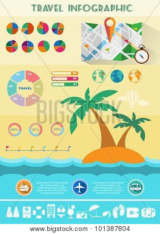 Colorful Travel Infographics Illustration