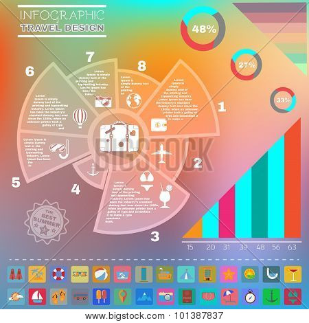 Colorful Infographics Diagram Summer Design.