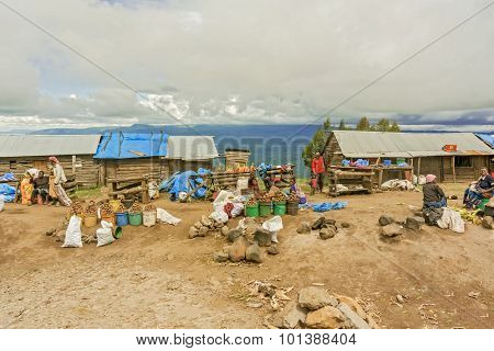 Market In The Village In Tanzania