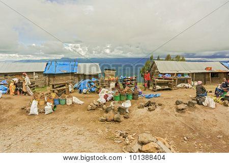 Market In The Village In Tanzania