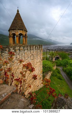 View From The Medieval Fortress Of Ananuri