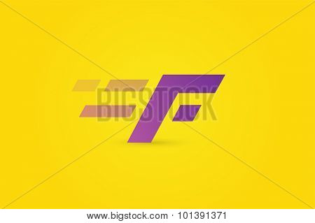 Fast line F letter line logo. F lines monogram. Vector F line letter. F design. Abstract F letter. Motion symbol. F line symbol. Flat style. Transport delivery. F motion icon