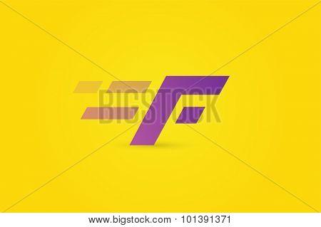 Fast line F letter line logo. F lines monogram. Vector F line letter. F design. Abstract F letter. Motion symbol. F line symbol. Flat style. Transport delivery. F motion icon