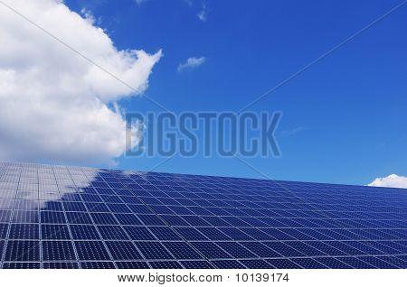 Blue solar panel