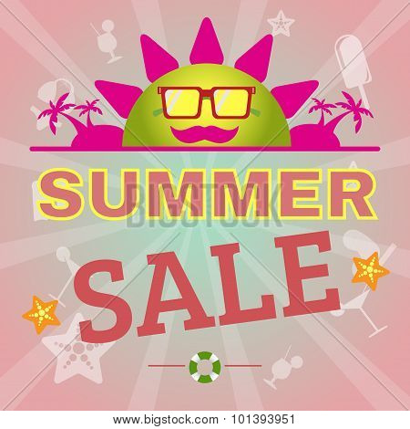 Summer Sale Promotion Flyer.