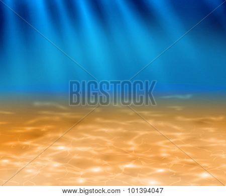 Deep Sandy Bottom Of The Ocean