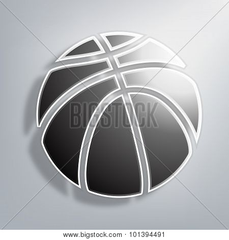 Paper Ball Basketball On Paper Background
