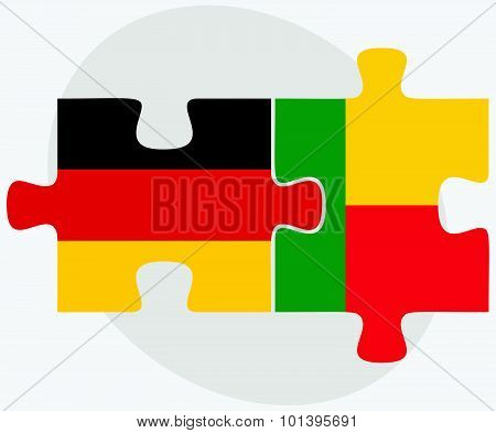 Germany And Benin Flags
