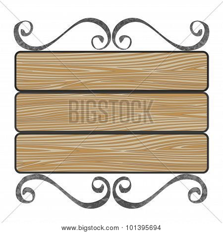 signboard with wooden planks