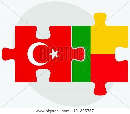 Turkey And Benin Flags