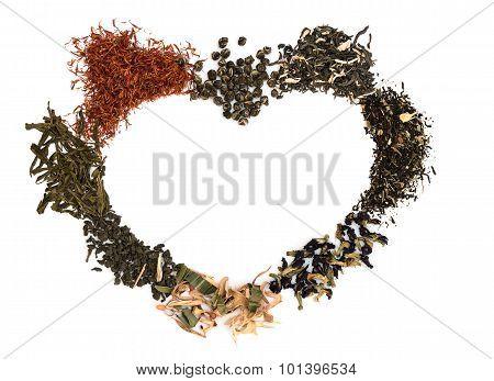 Tea in shape of heart