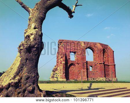 Ruins of gothic church