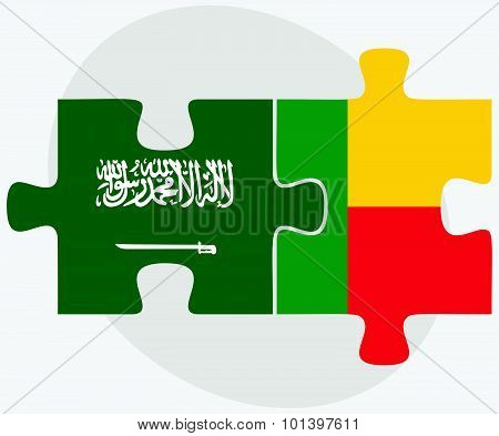 Saudi Arabia And Benin Flags