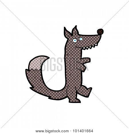 comic book style cartoon wolf