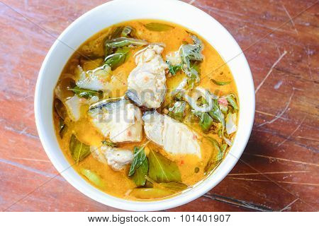 Red Curry With Fish