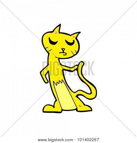 comic book style cartoon cat