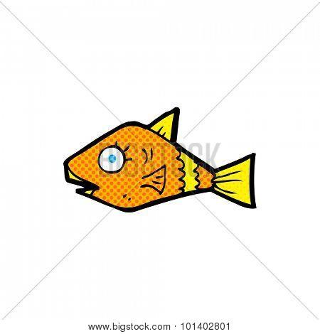comic book style cartoon fish