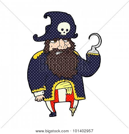 comic book style cartoon pirate