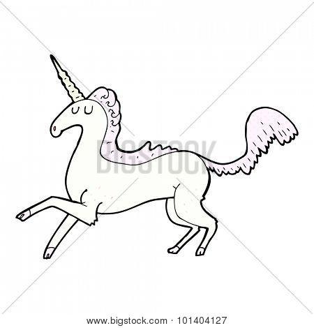 comic book style cartoon unicorn
